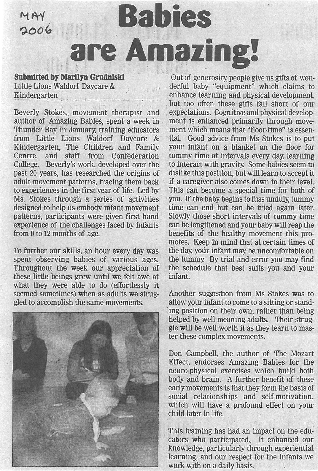 Article, May 2006 Chronicle Journal