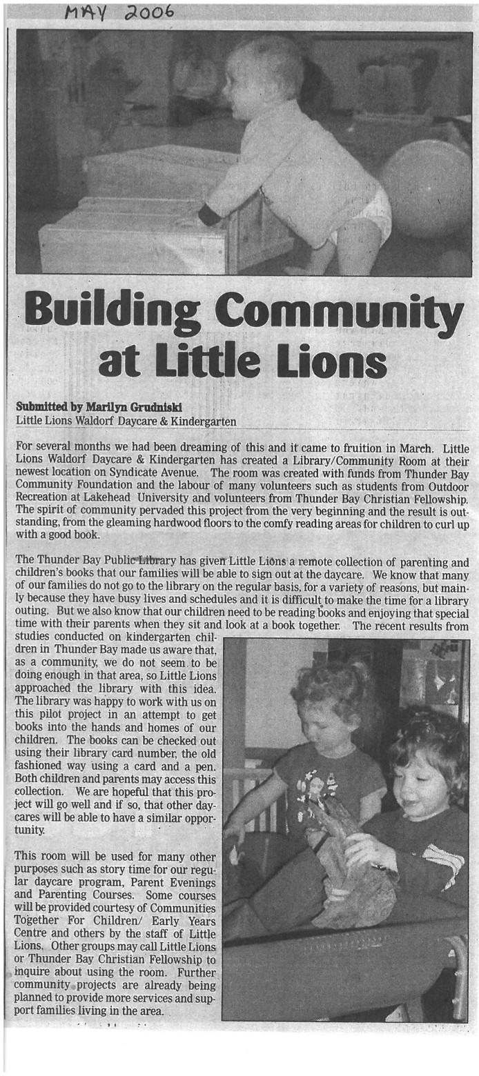 Building Community at Little Lions